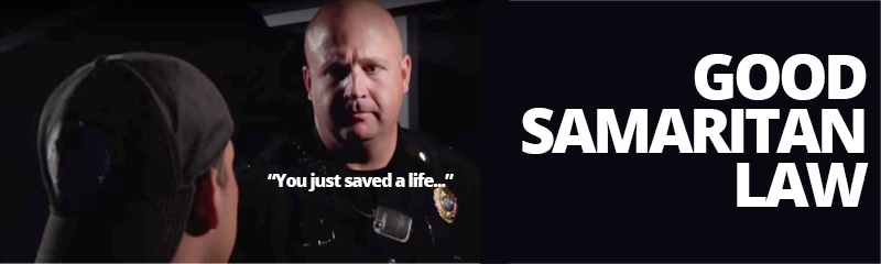 Good samaritan law - don't run, call 911
